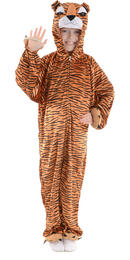 Animal Fancy Dress Costume Children's Boogie Woogie Tiger Ages 3-13 Sizes Small-XXLarge Thumbnail 2