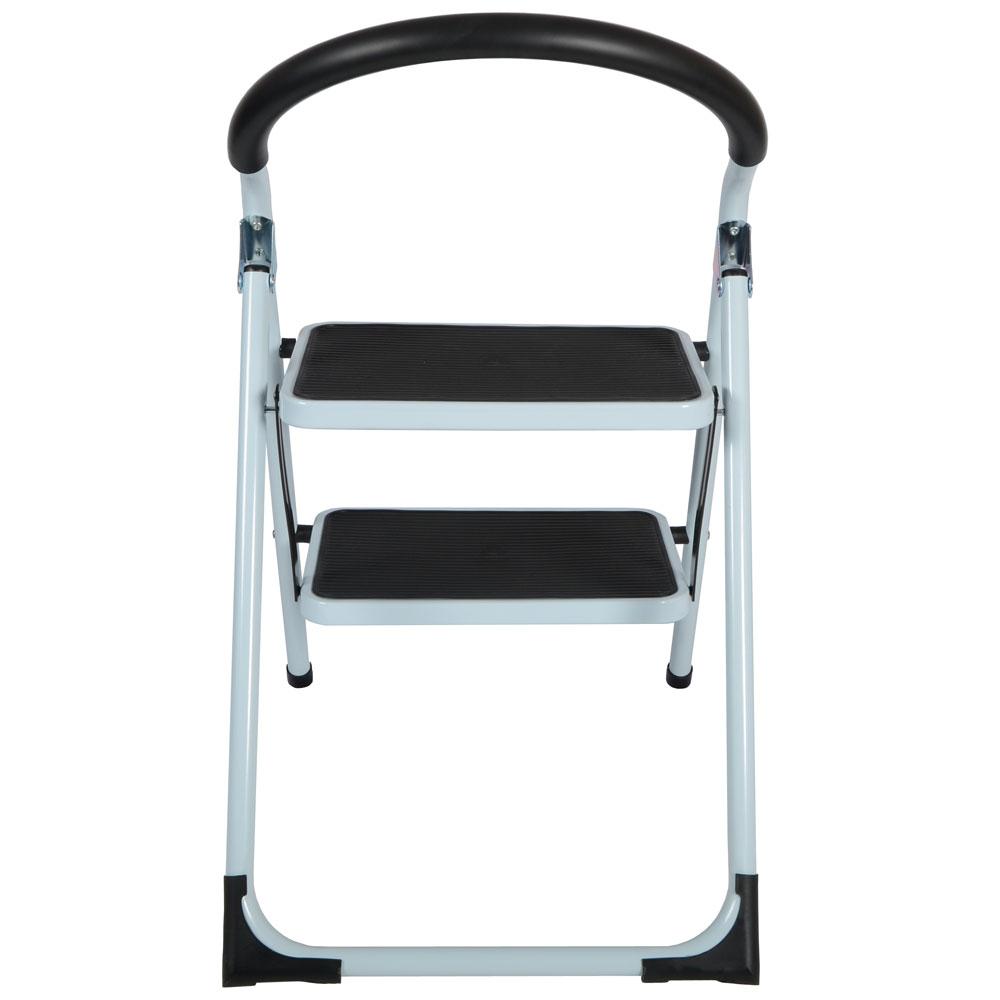 2 Step Non Slip Tread Folding Step Ladder Kitchen Stool