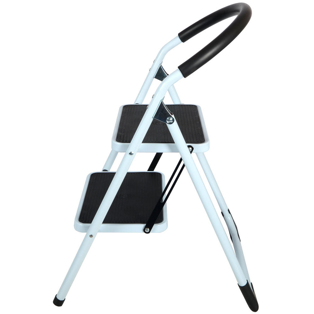 2 Step Non Slip Tread Folding Household Ladder Kitchen