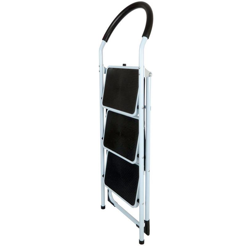 3 Step Non Slip Tread Folding Household Ladder Kitchen