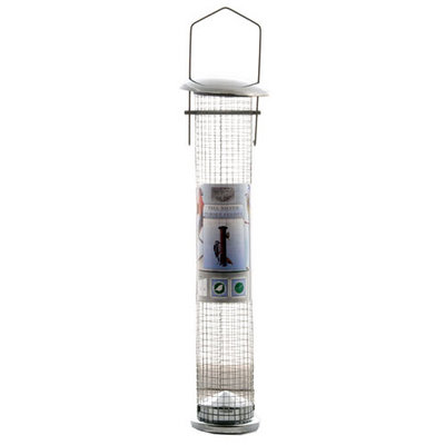 Green Jem Quality Tall Silver Wild Bird Peanut Feeder