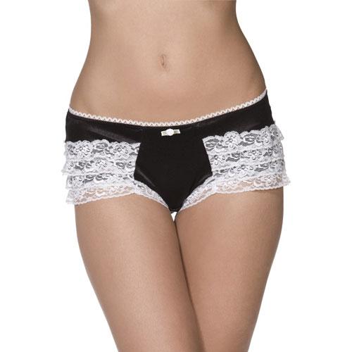 Bijou-Boutique-Sexy-Black-amp-White-Frilly-Ruffle-Pants