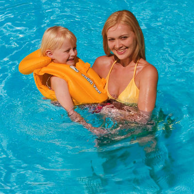 Kids Swim Safe Inflatable Swimming Pool Vest Jacket New