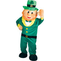 Lucky Leprechaun Irish St Patricks Day Giant Full Body Mascot Charity and Sports Event