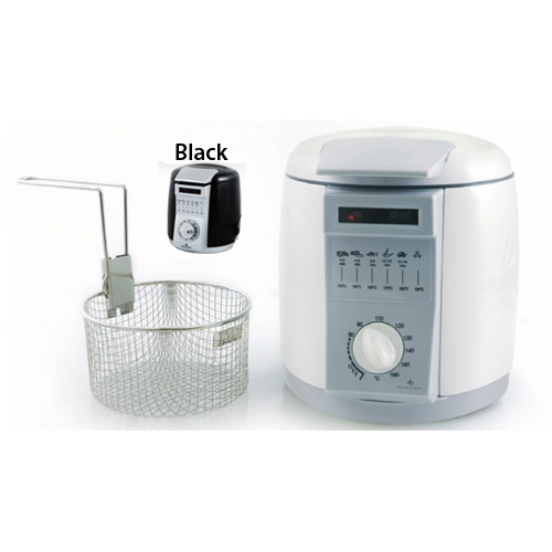 lloytron 1l 900w mini deep fat fryer white brand new. Black Bedroom Furniture Sets. Home Design Ideas