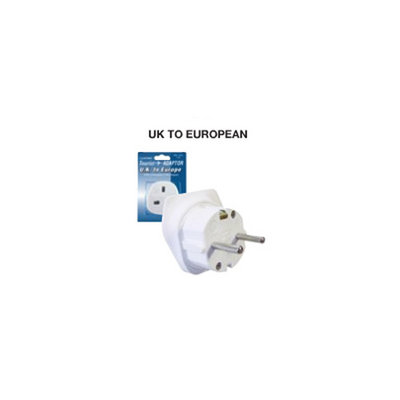 2 x Lloytron UK  Europe Tourist Travel Adaptor New