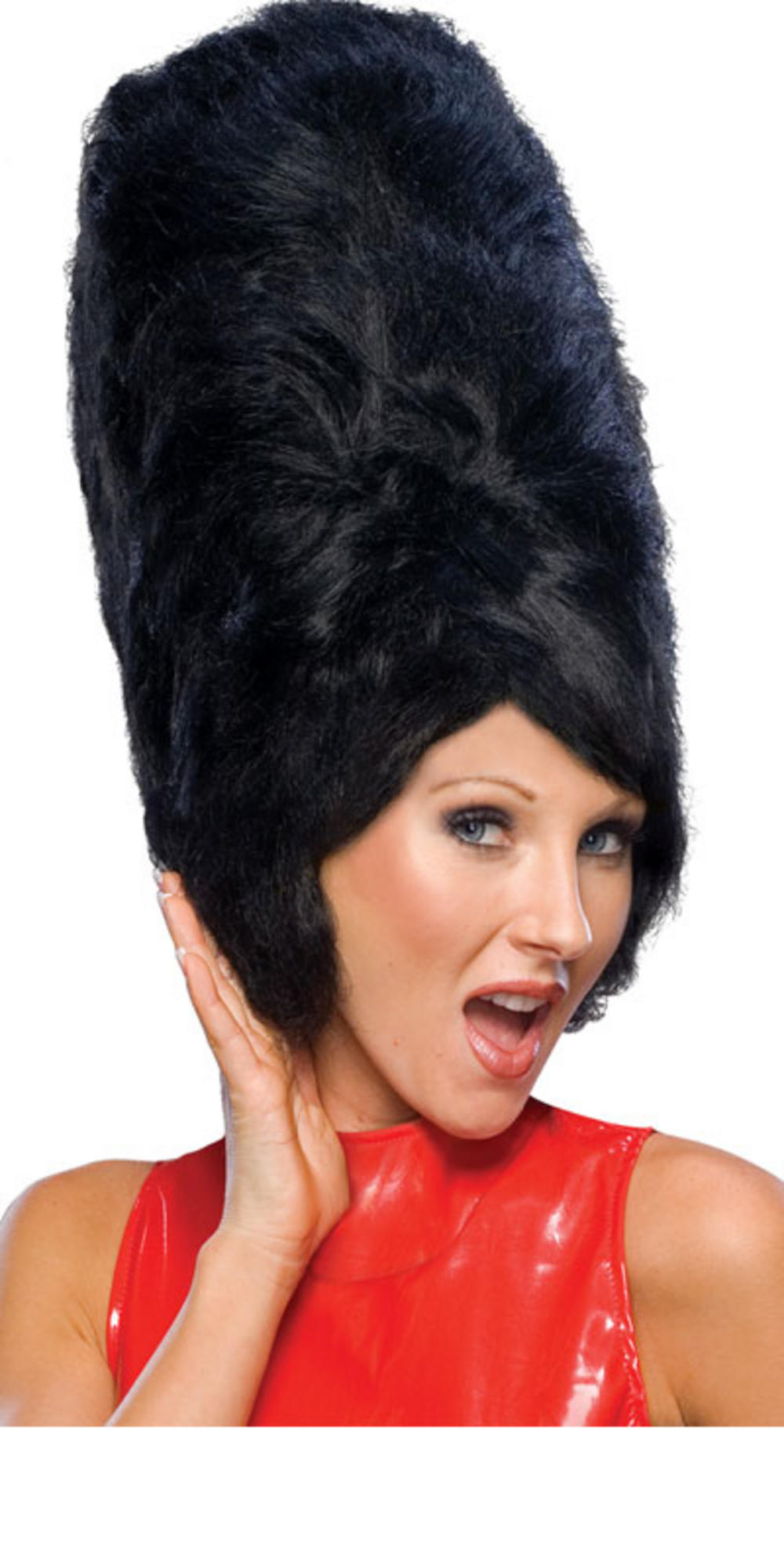 1960s Style Black Beehive Fancy Dress Party Wig Thumbnail 2