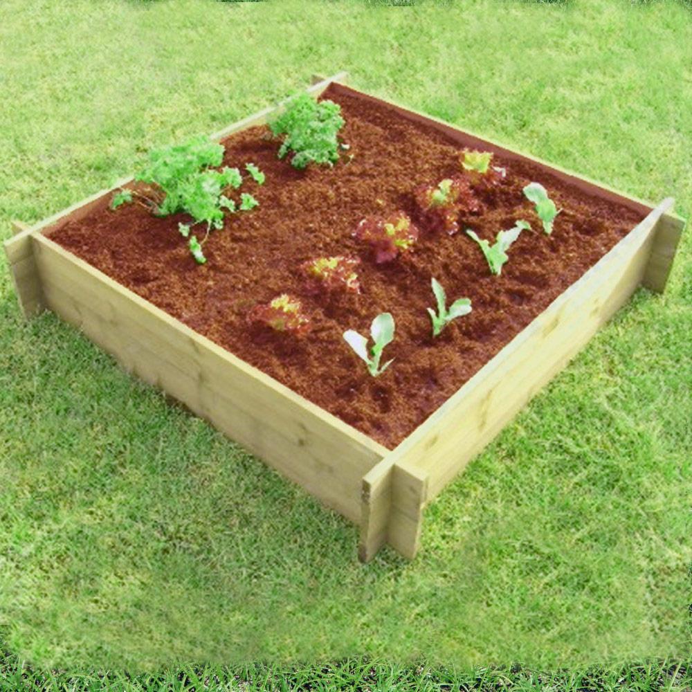1 Metre Square Raised Wooden Border For Creating Vegetable