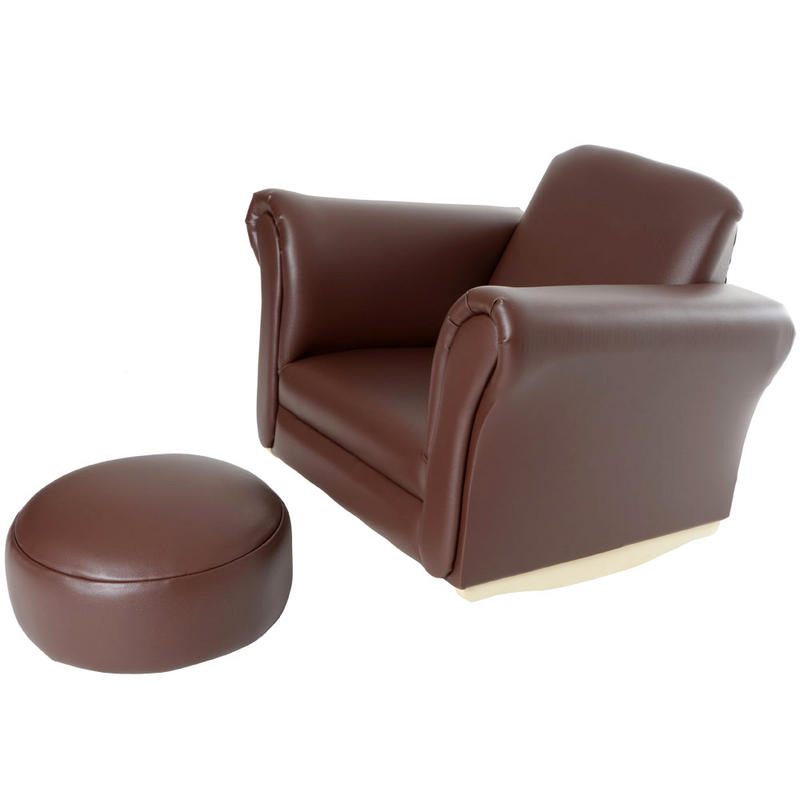 Children's PU Leather Look Cushioned Rocker Rocking ...
