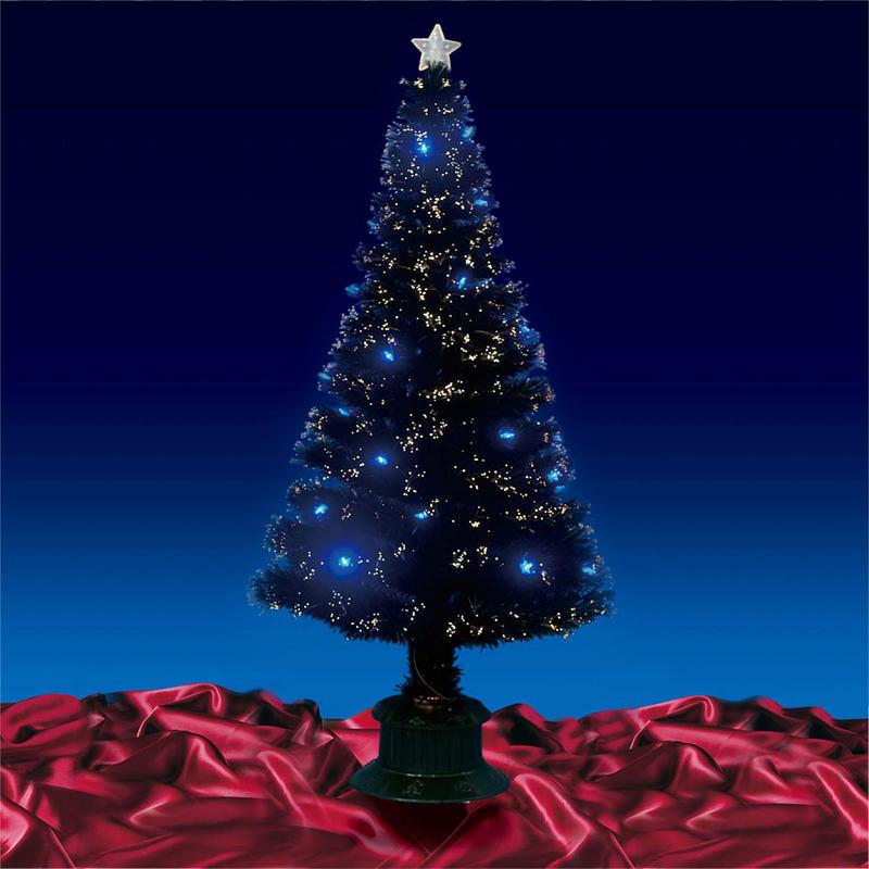 Beautiful 6ft 180cm Black Fibre Optic Christmas Tree With ...
