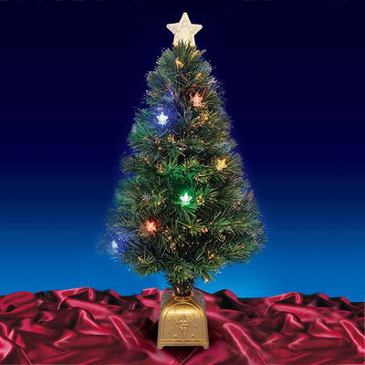 "Beautiful  32"" 80cm Green Fibre Optic Christmas Tree With Multi LED Lights"