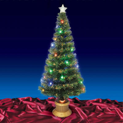 Beautiful 5ft 150cm Green Fibre Optic Christmas Tree With Multi LED Lights