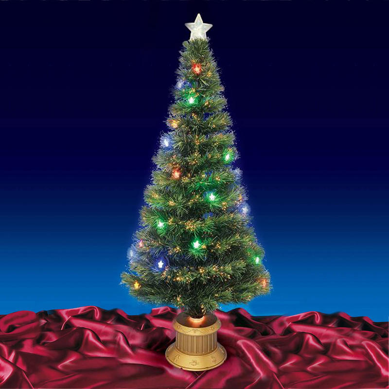 Beautiful 6ft 180cm Green Fibre Optic Christmas Tree With