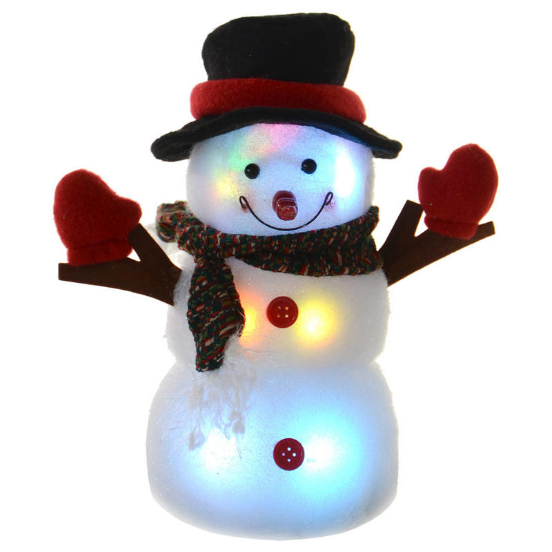Battery operated festive 24cm light up colour changing for Light up christmas decorations