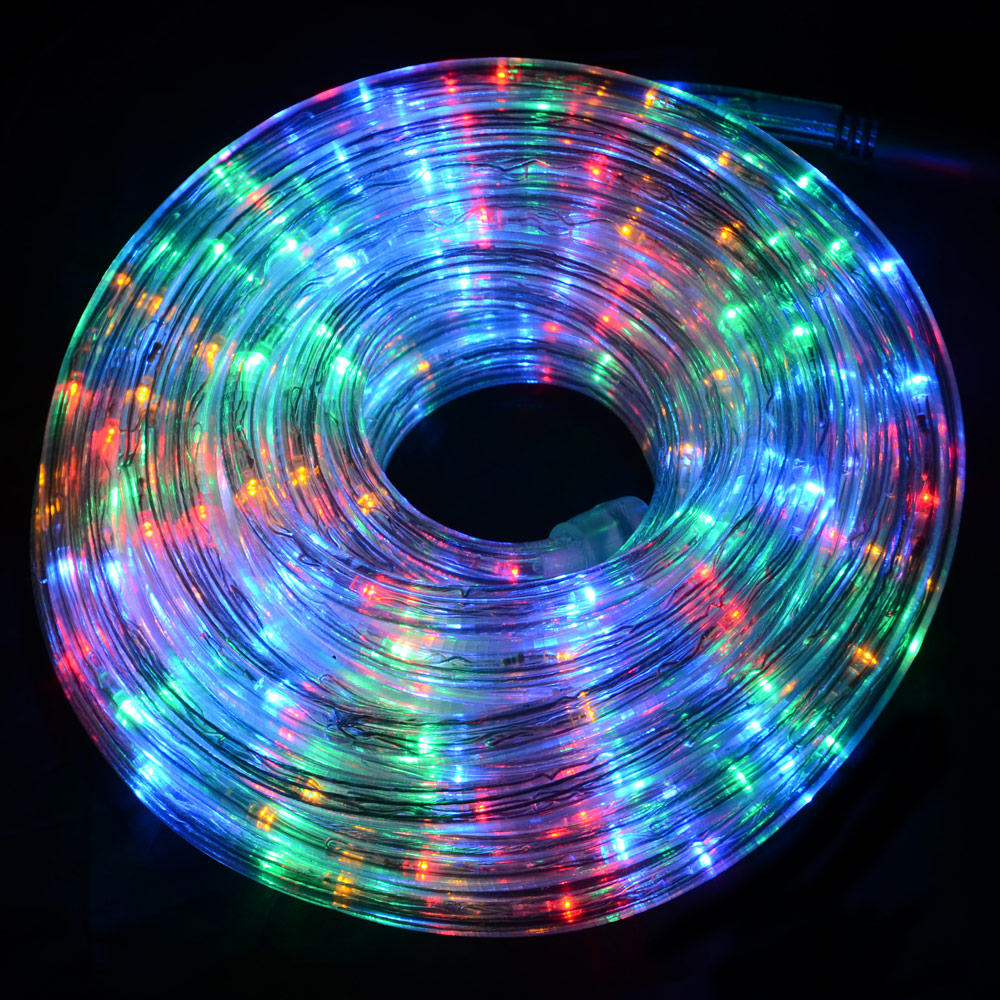 12m multi colour flashing led multi function rope lights for Decoration led exterieur