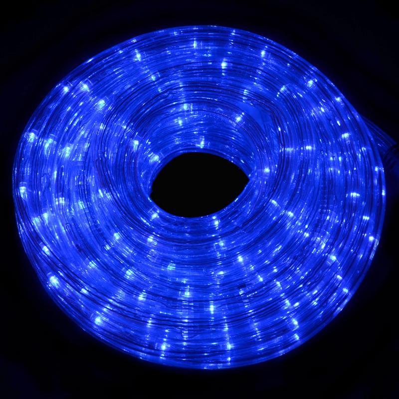 12m Multi Function Indoor / Outdoor Festive Christmas Blue Flexible LED Rope Light