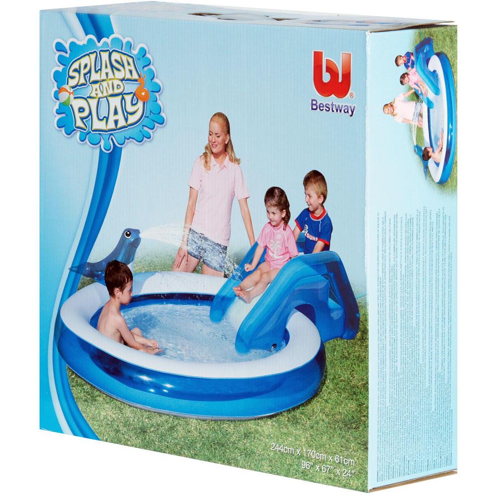 Inflatable Slide Pool Tesco: Splash & Play Seal Sprayer & Slide Inflatable Swim