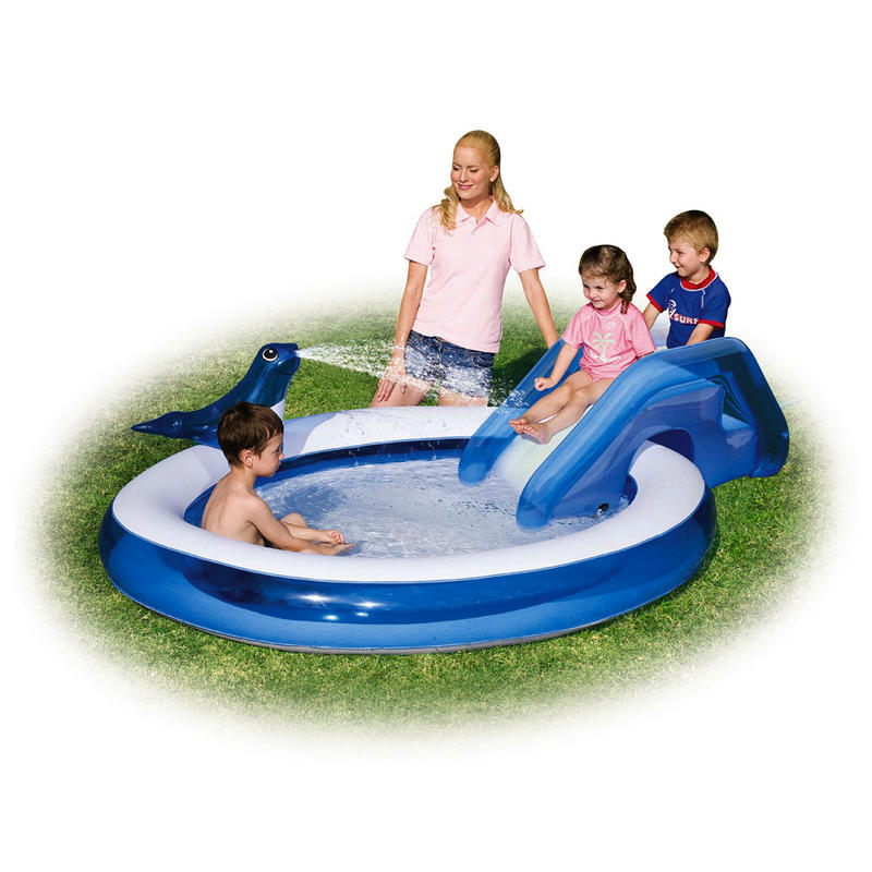 Inflatable Pool Slide Uk: Splash & Play Seal Sprayer & Slide Inflatable Swim