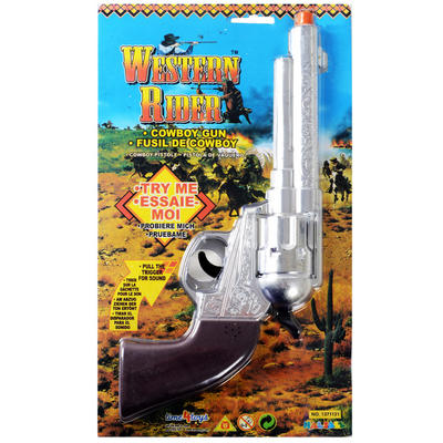 Western Rider Toy Cowboy Gun With Echoing Shot Sound Fancy Dress Prop Hallowe'en Accessory Ages 3+