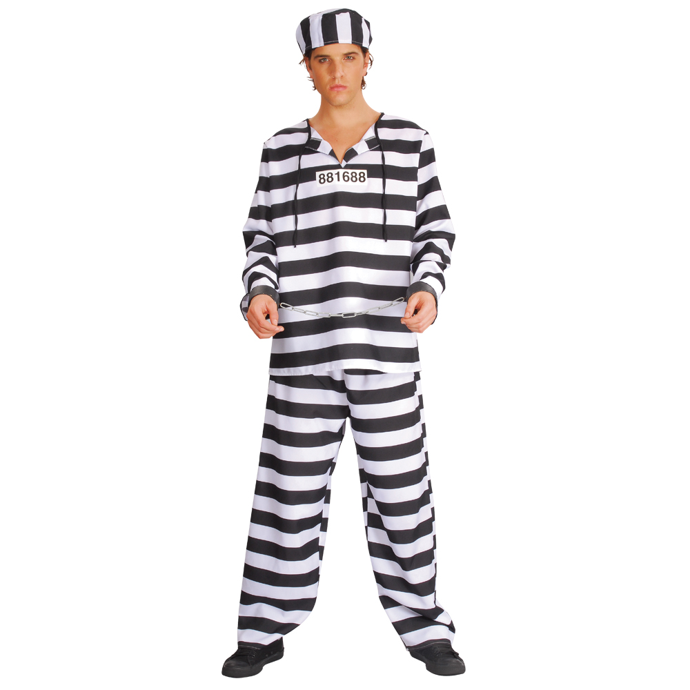 Wicked Chain Gang Convict Prisoner Fancy Dress Costume