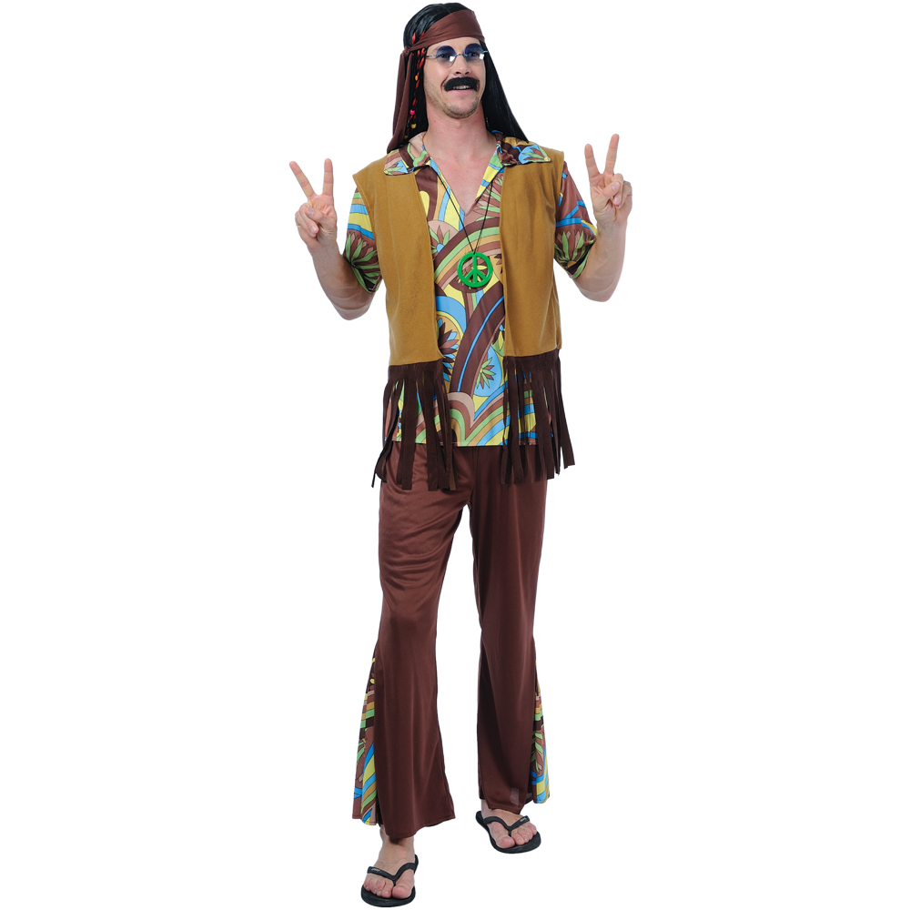 1960s hippie hippy style peace mens fancy dress costume ebay
