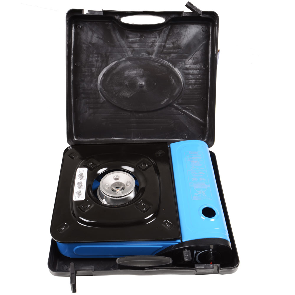 deluxe portable butane stove with carry case gas cartridge. Black Bedroom Furniture Sets. Home Design Ideas