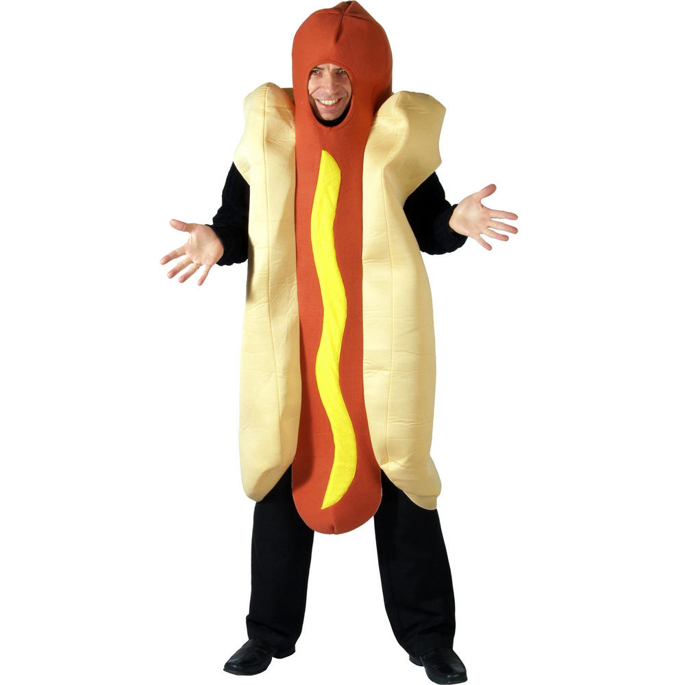 One Piece Hot Dog Fancy Dress Funny Novelty Halloween Costume Preview Hot Dog Costume