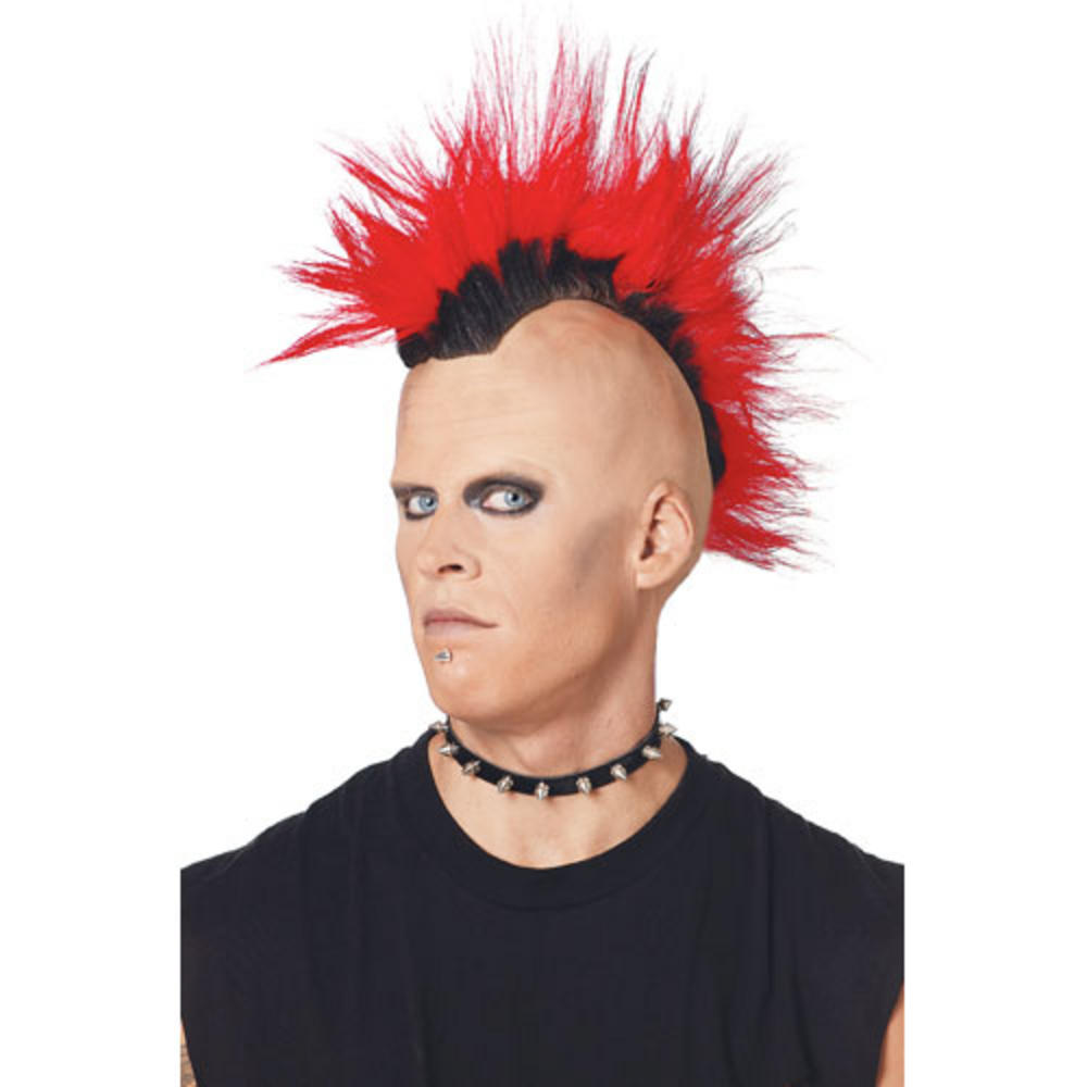 Pmg Adult 70 S 80 S Style Red Punk Rocker Mohawk Mohican