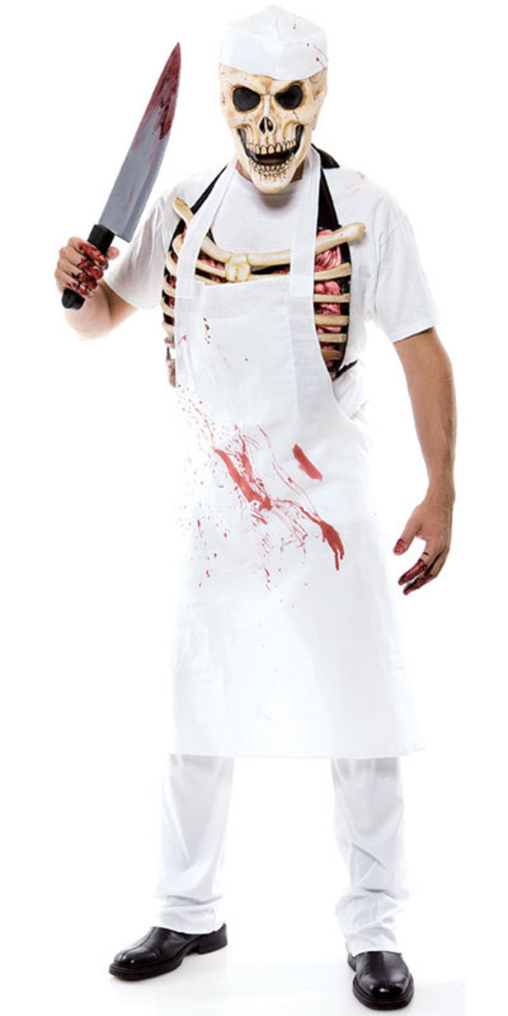 the meat man scary zombie butcher mens halloween fancy dress costume. Black Bedroom Furniture Sets. Home Design Ideas