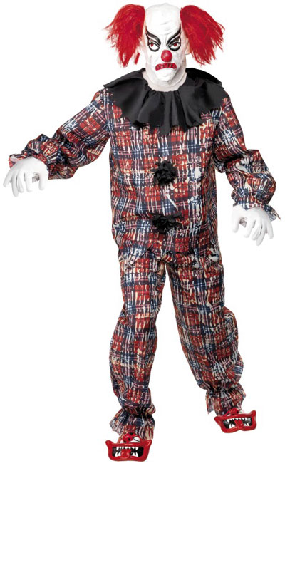 Scary Clown IT Fancy Dress Halloween Horror Costume