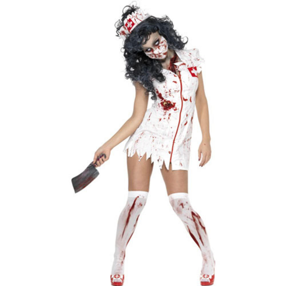 zombie nurse fancy dress halloween horror costume. Black Bedroom Furniture Sets. Home Design Ideas