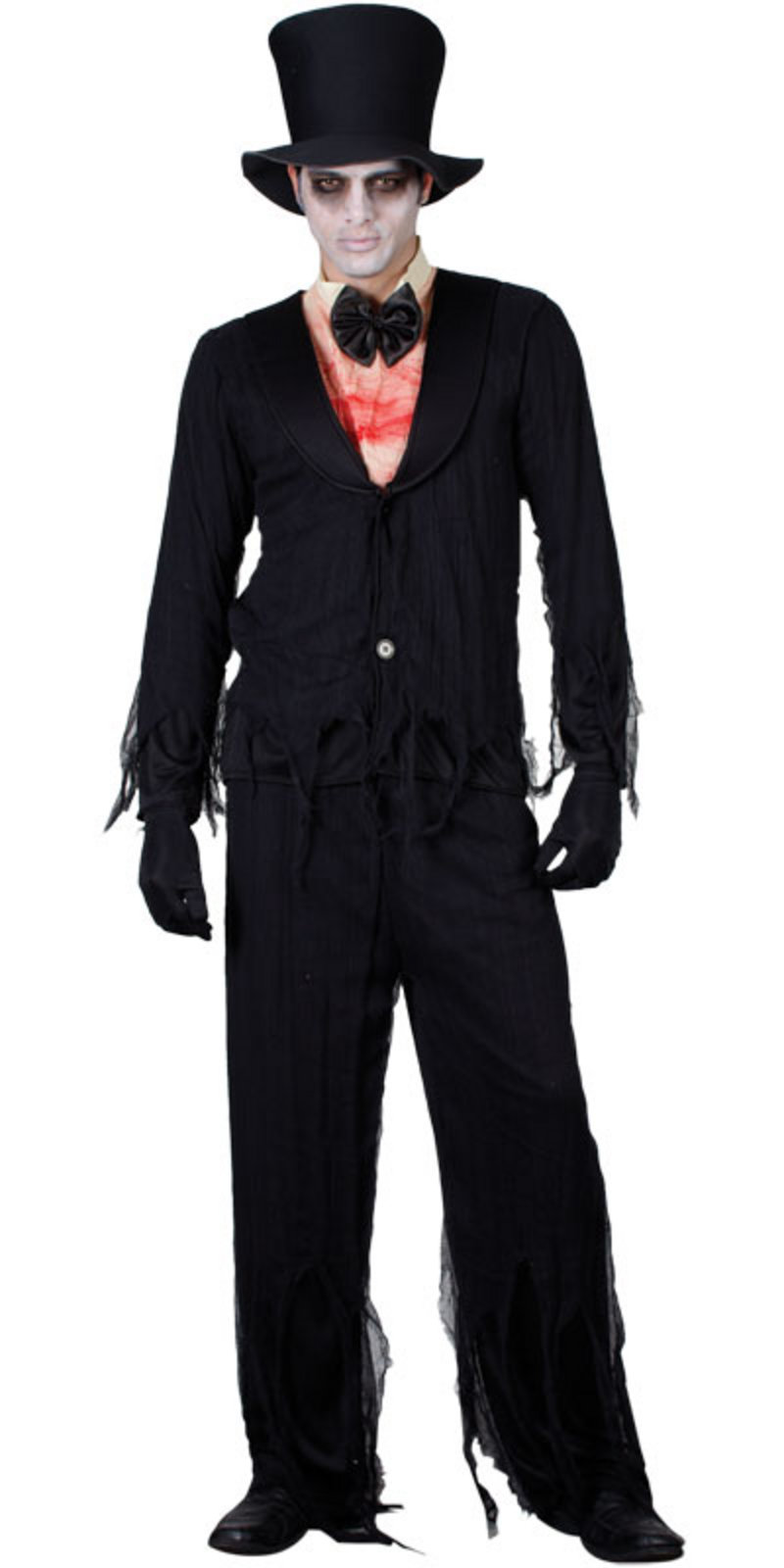Zombie Bridegroom Mens Fancy Dress Halloween Horror Costume Preview