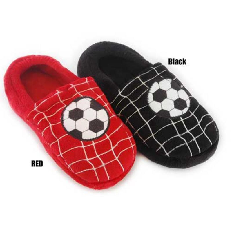 Boys' house slippers with a slip-on style make it easy for him to slip the slippers on or off as he needs to. Don't forget to check out any other boy's winter accessories, including thermals, boys' winter hats, and casual winter gloves.