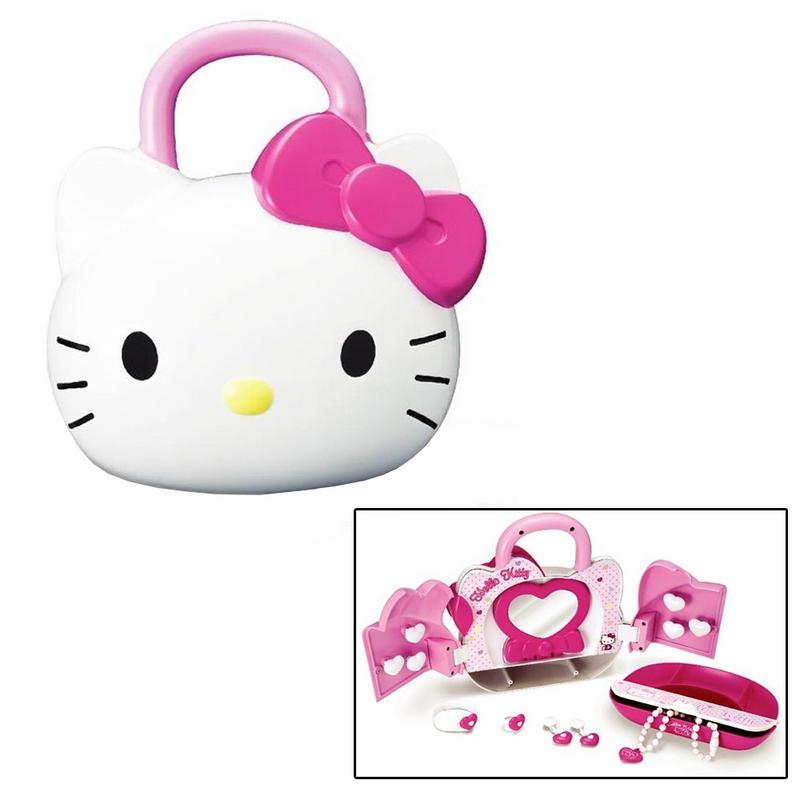 Girls Hello Kitty Over 6 Piece Fashion Set Jewellery Box
