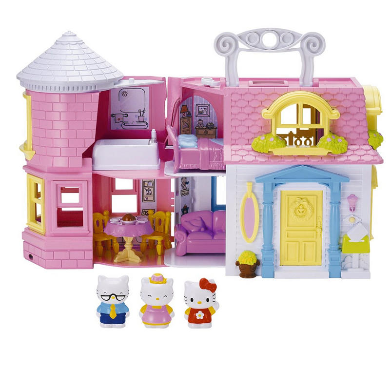 Hello Kitty Victorian Doll House Play Set With Furniture ...