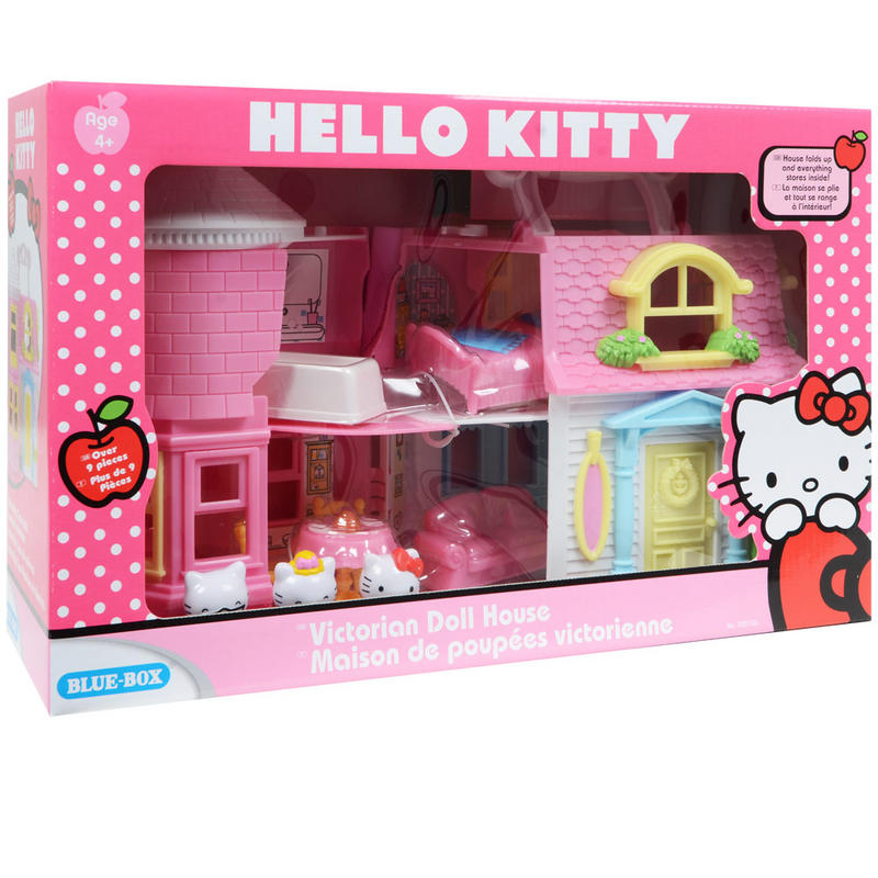 hello kitty victorian doll house play set with furniture. Black Bedroom Furniture Sets. Home Design Ideas