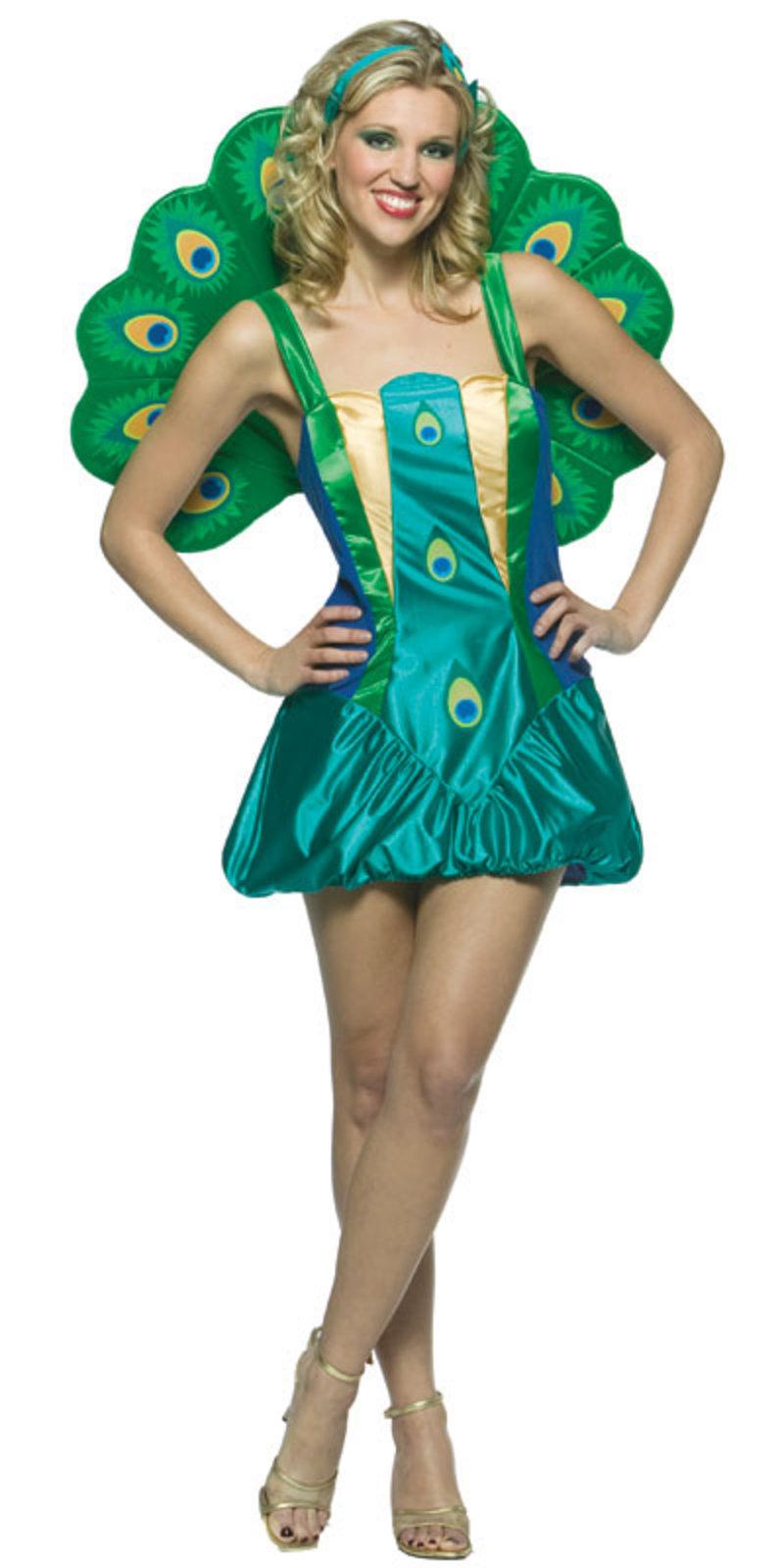 Ladies Peacock Sexy Fancy Dress Halloween Costume New