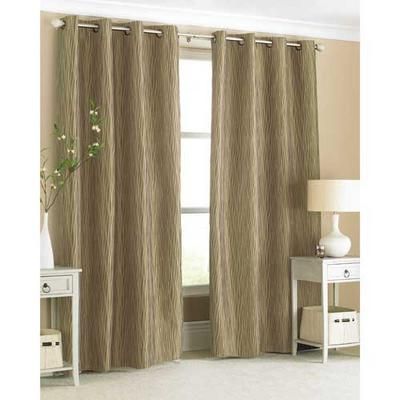 "Carmen Curtains - Gorgeous Ring Top Curtains Natural Colour 145x228cm (56""x90"")"