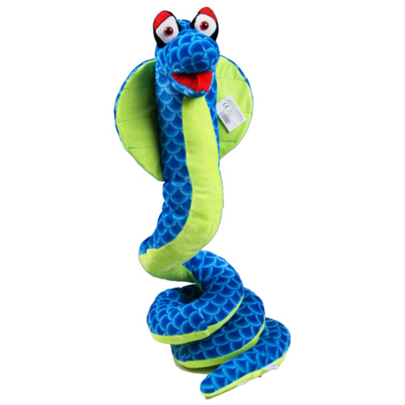 Snake Toys For Boys : Giant blue curly snake soft toy brand new