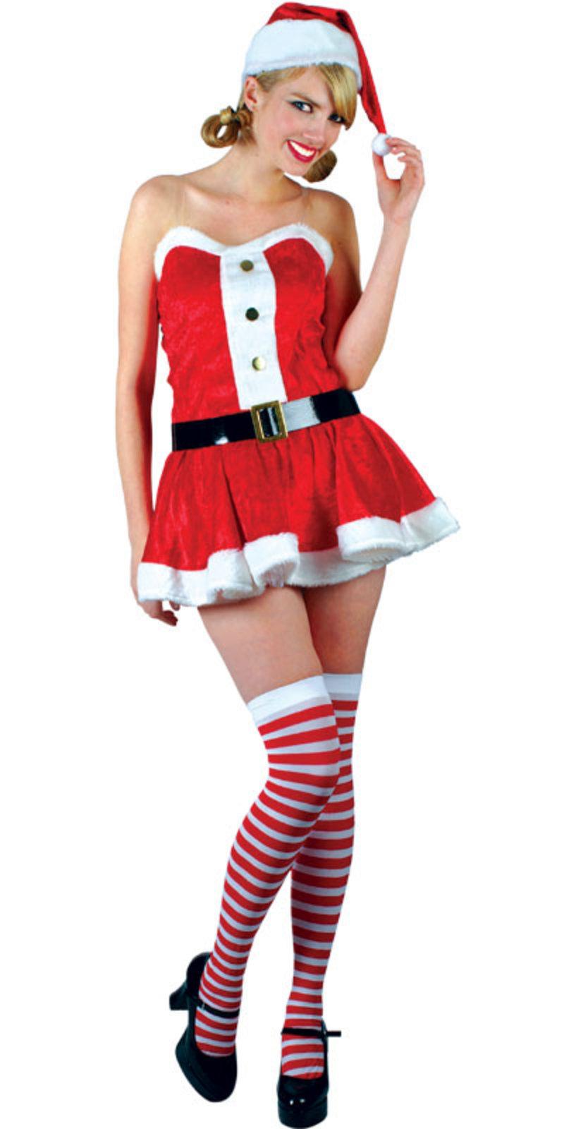 Wkdxm Sexy Santa Girl Ladies Christmas Fancy Dress Costume