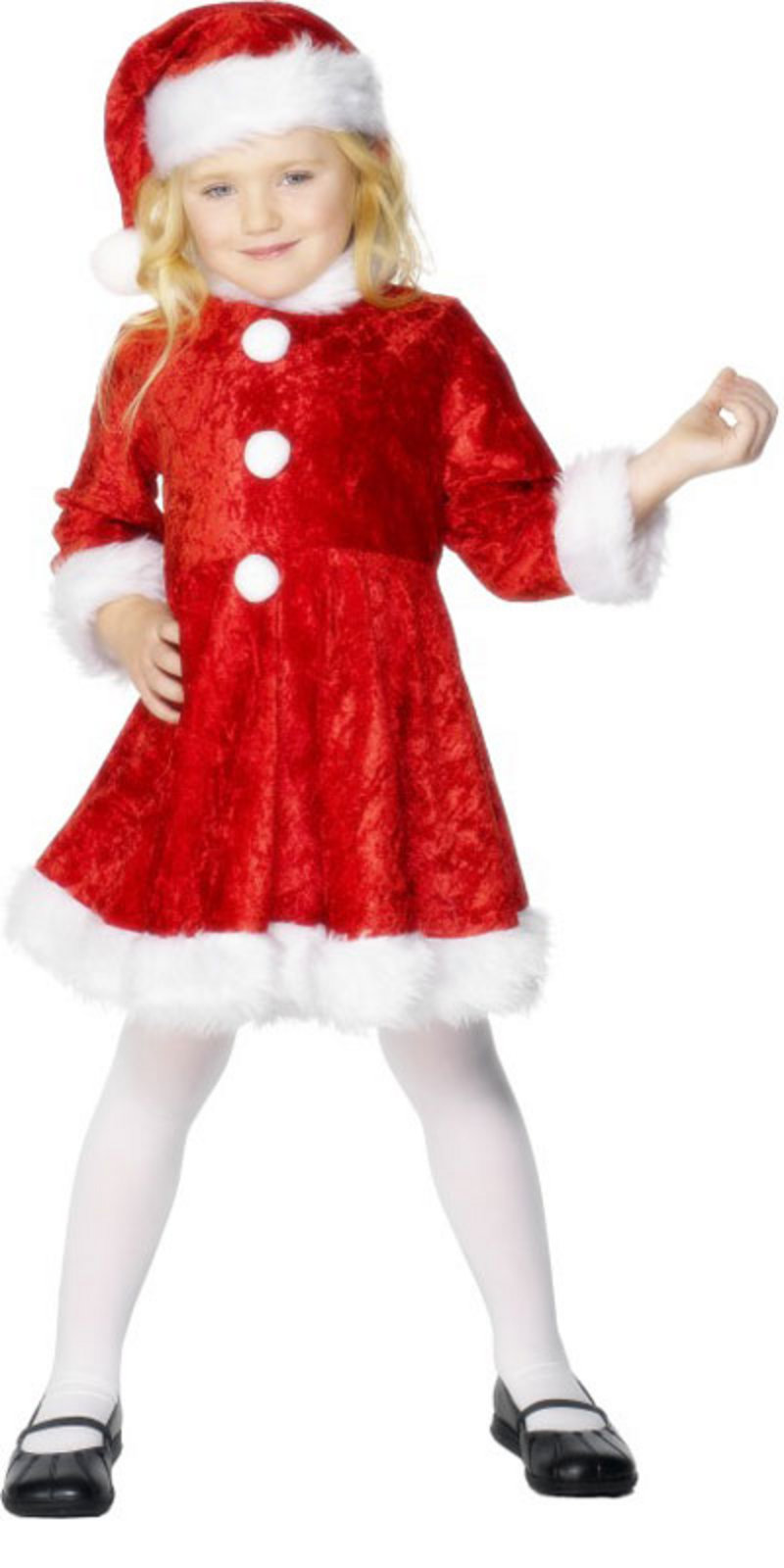 Girls christmas miss santa claus fancy dress outfit