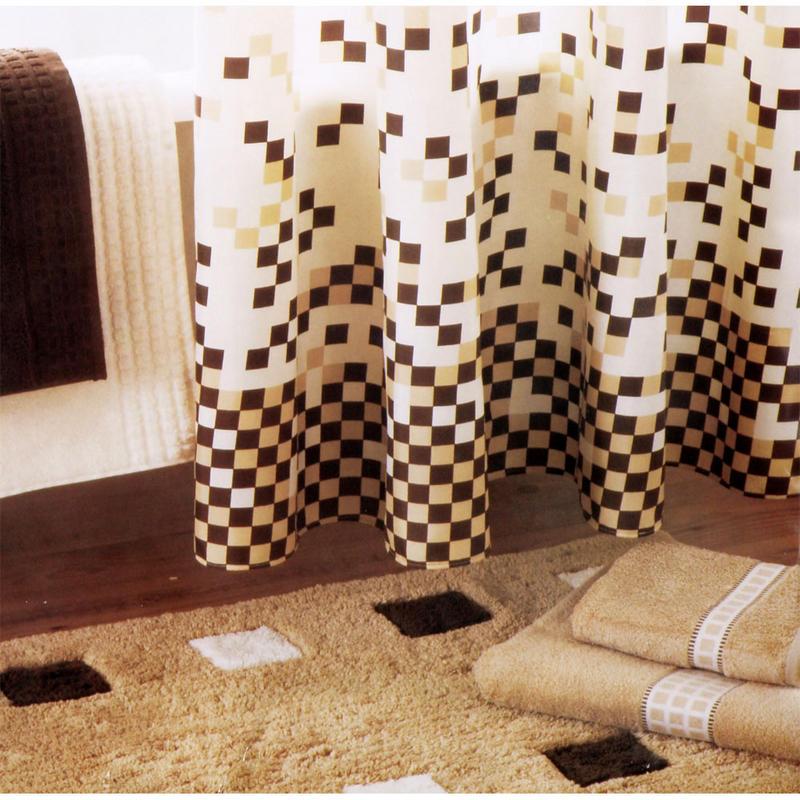 cream and brown shower curtain. 180cm Mosaic Bath Shower Curtain W 12 Hooks Cream New And Brown  Home Design Health support us