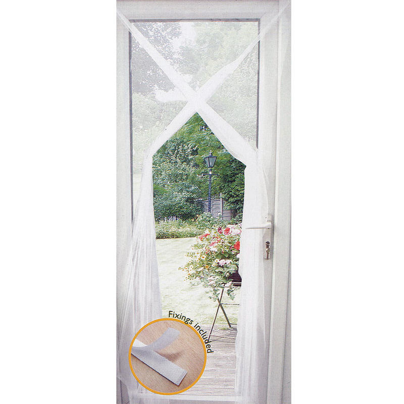 Garden flying bug insect white mesh door window screen curtain for Mesh for windows and doors
