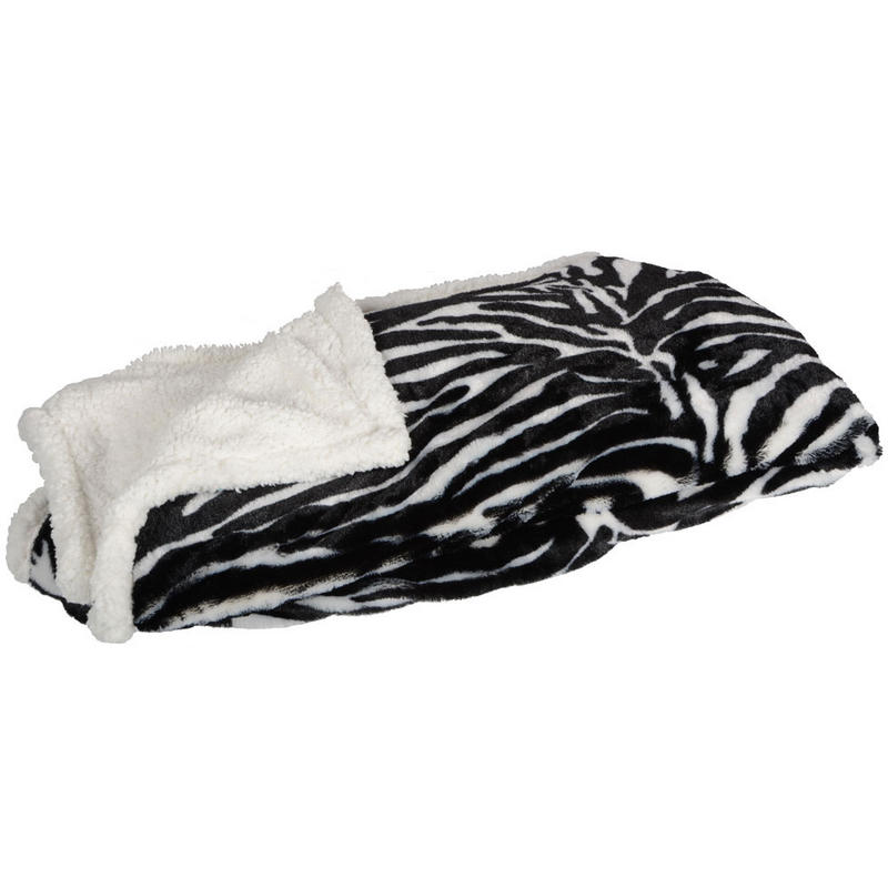 Animal Print Zebra Blanket Throw Reversible Home Bed Sofa New