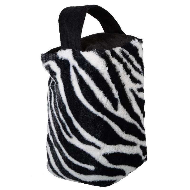 Zebra Print Door Stop Animal Weight Bookend Wedge Fur Preview Zebra Weight