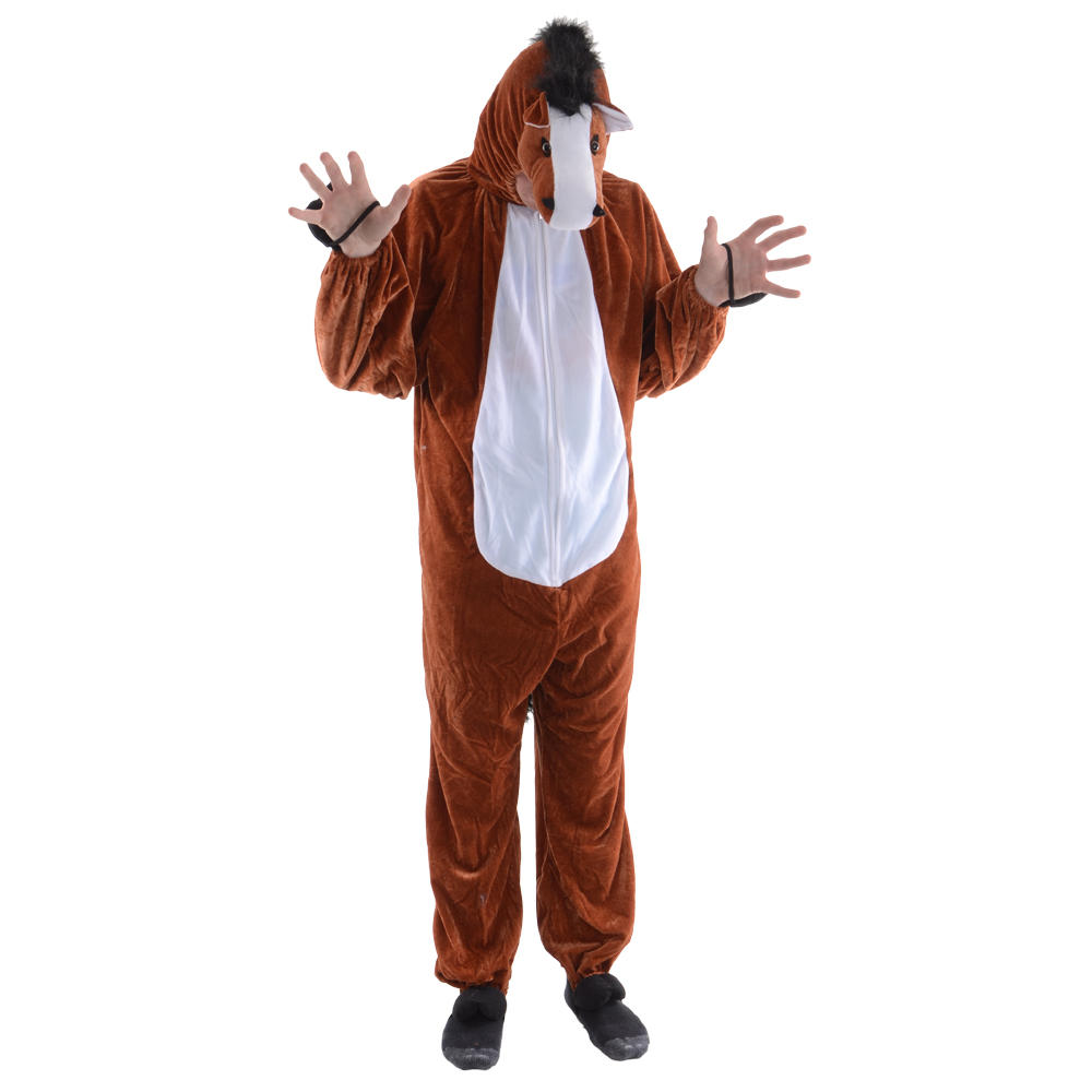 Ed The Horse Adult Animal One Piece Fancy Dress Halloween Costume One Size Preview