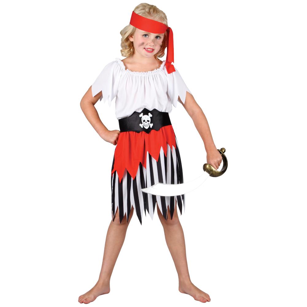 girls high seas pirate fancy dress up play halloween costume - Halloween Girl Dress Up