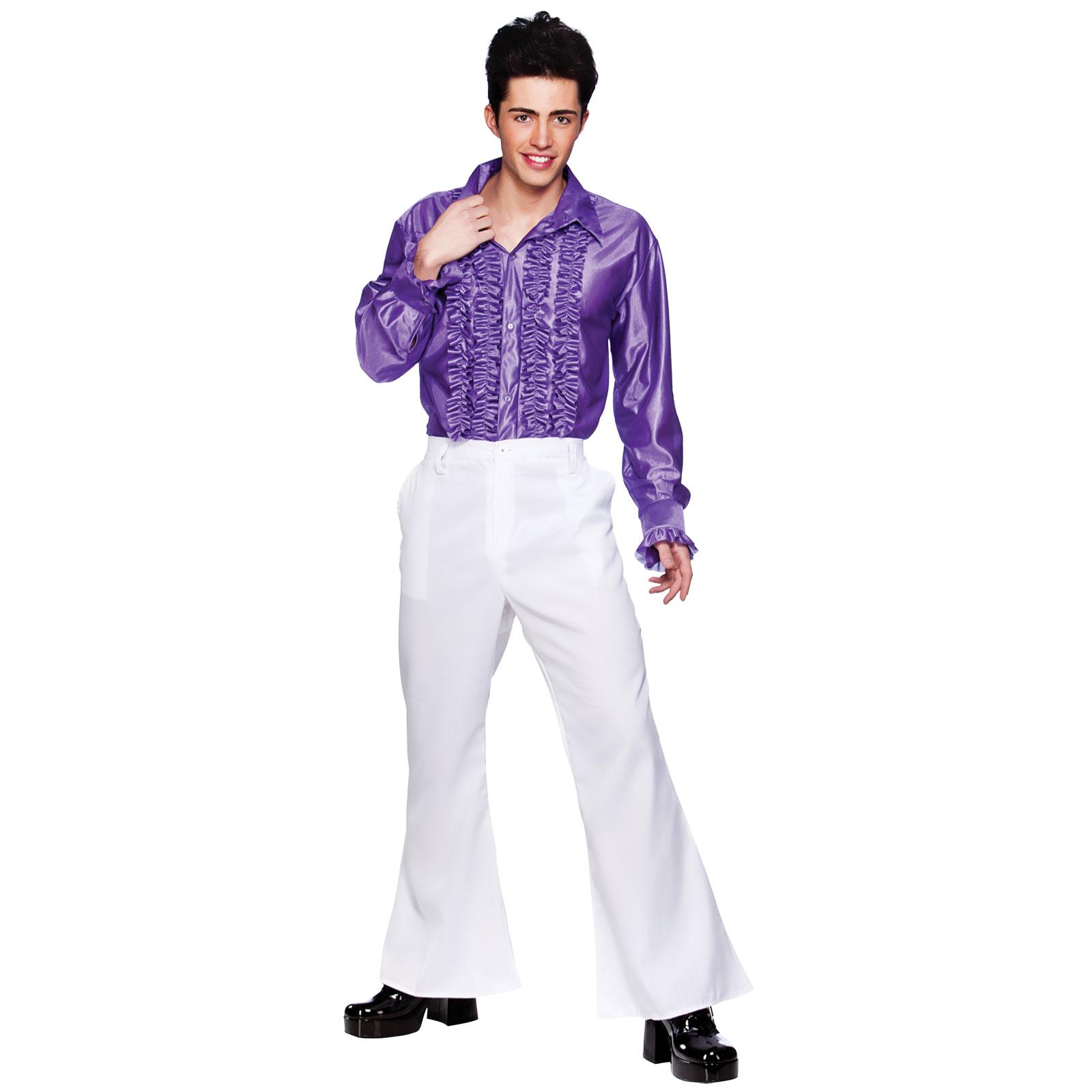 white 70s style disco flares mens fancy dress costume ebay