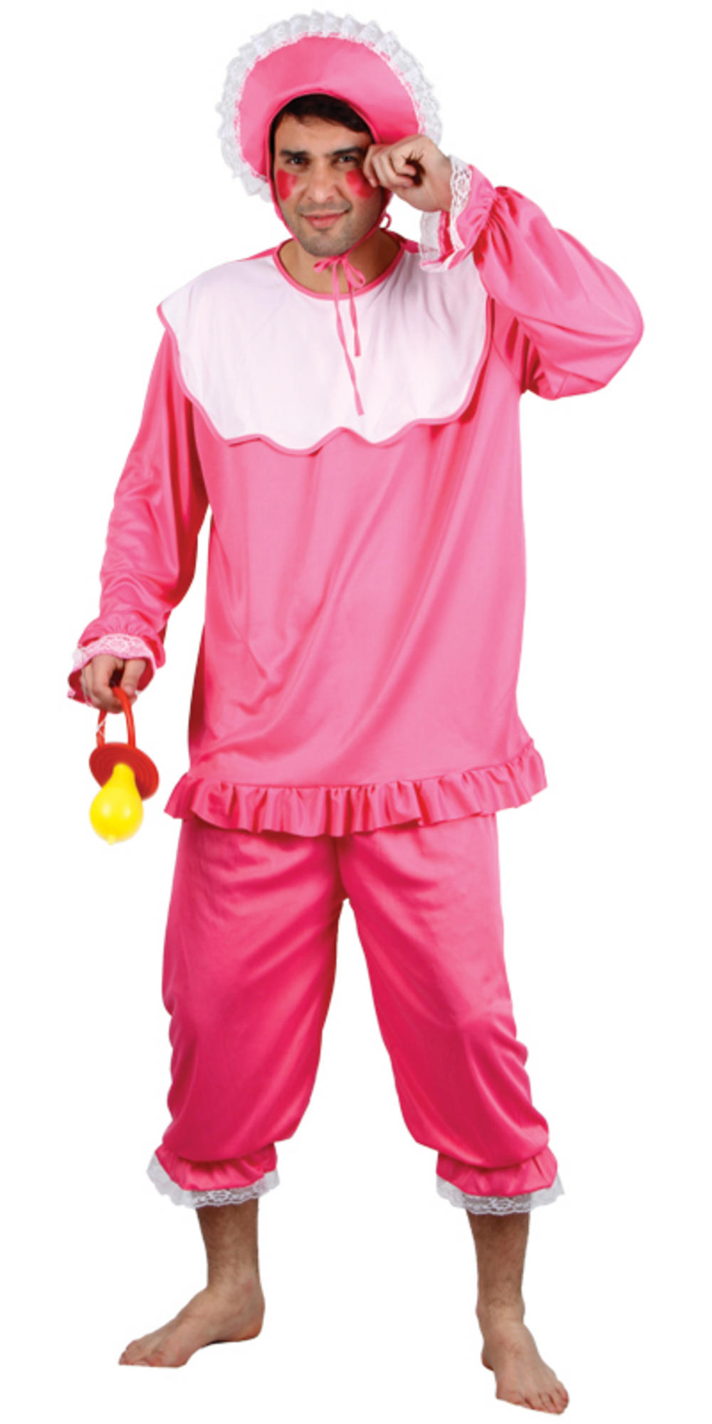 Giant Man Pink Cry Baby Suit Fancy Dress Party