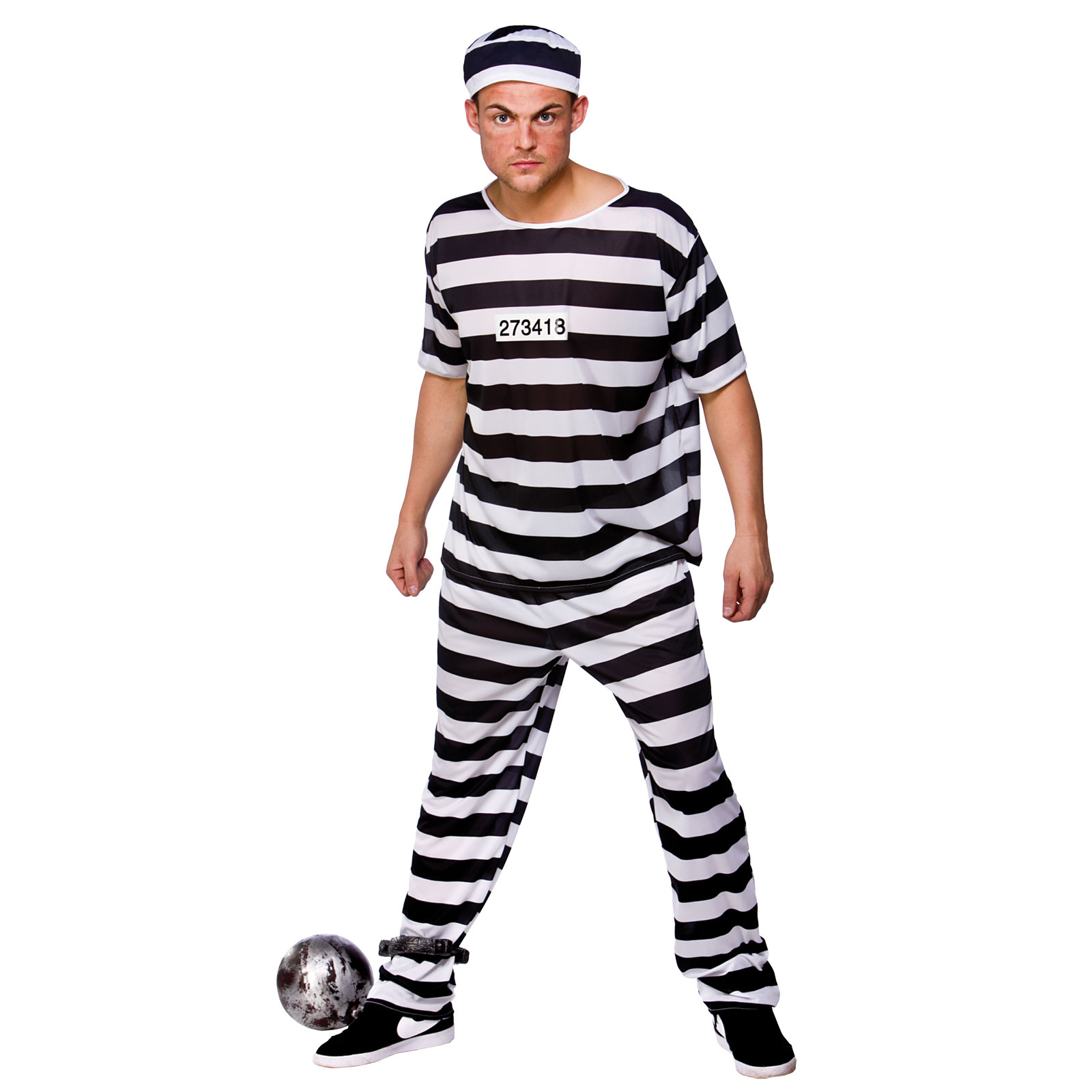 Prison Break Convict Prisoner Mens Fancy Dress Costume | eBay